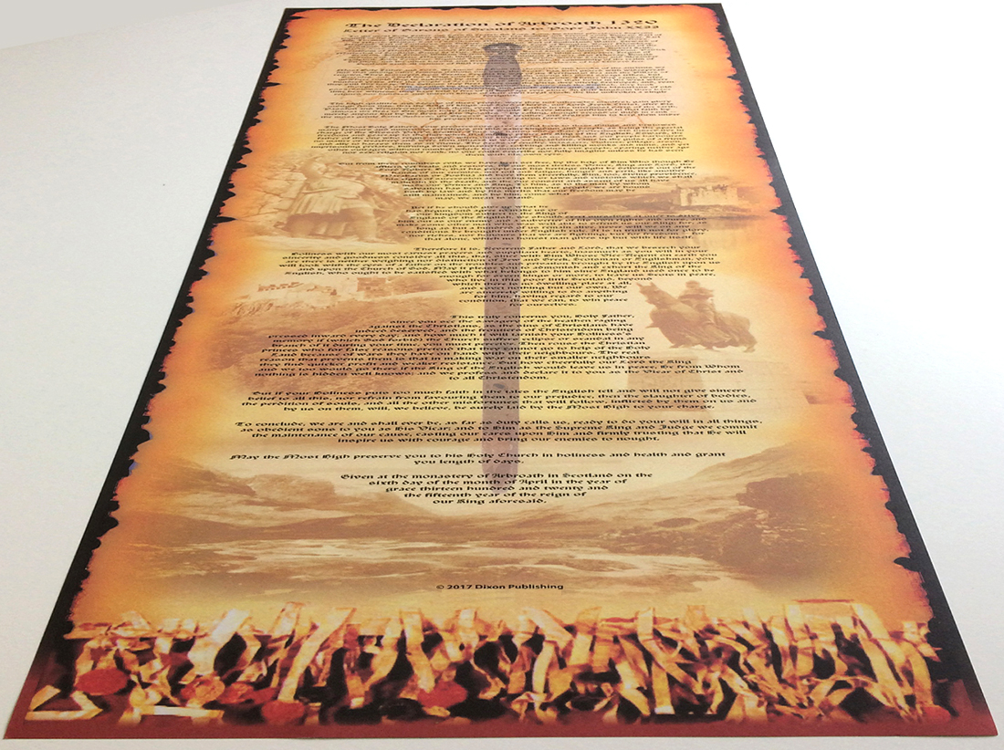 The Declaration of Arboath Souvenir Scroll by Dixon Publishing