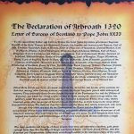 Declaration of Arbroath text - The translated Latin letter by Barons of Scotland
