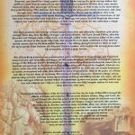 Declaration of Arbroath Scroll showing the statue of William Wallace and the history of Scotland's fight for freedom