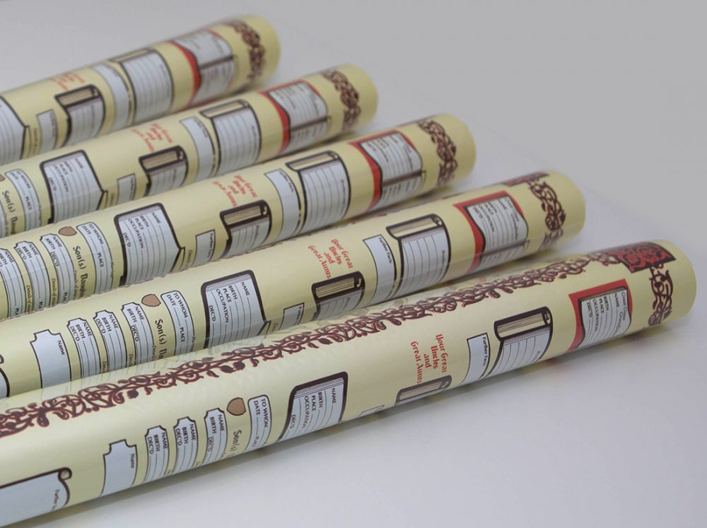 Family Tree Scrolls - Rolled and Ready to buy