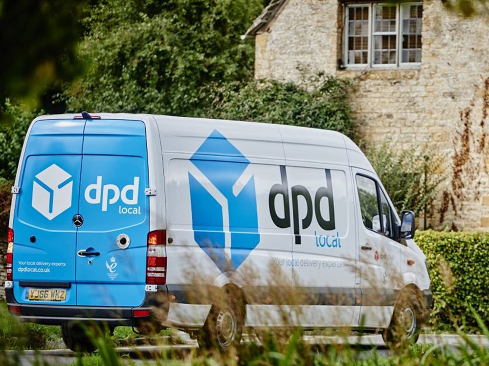 Dixon Publishing courier services DPD local van