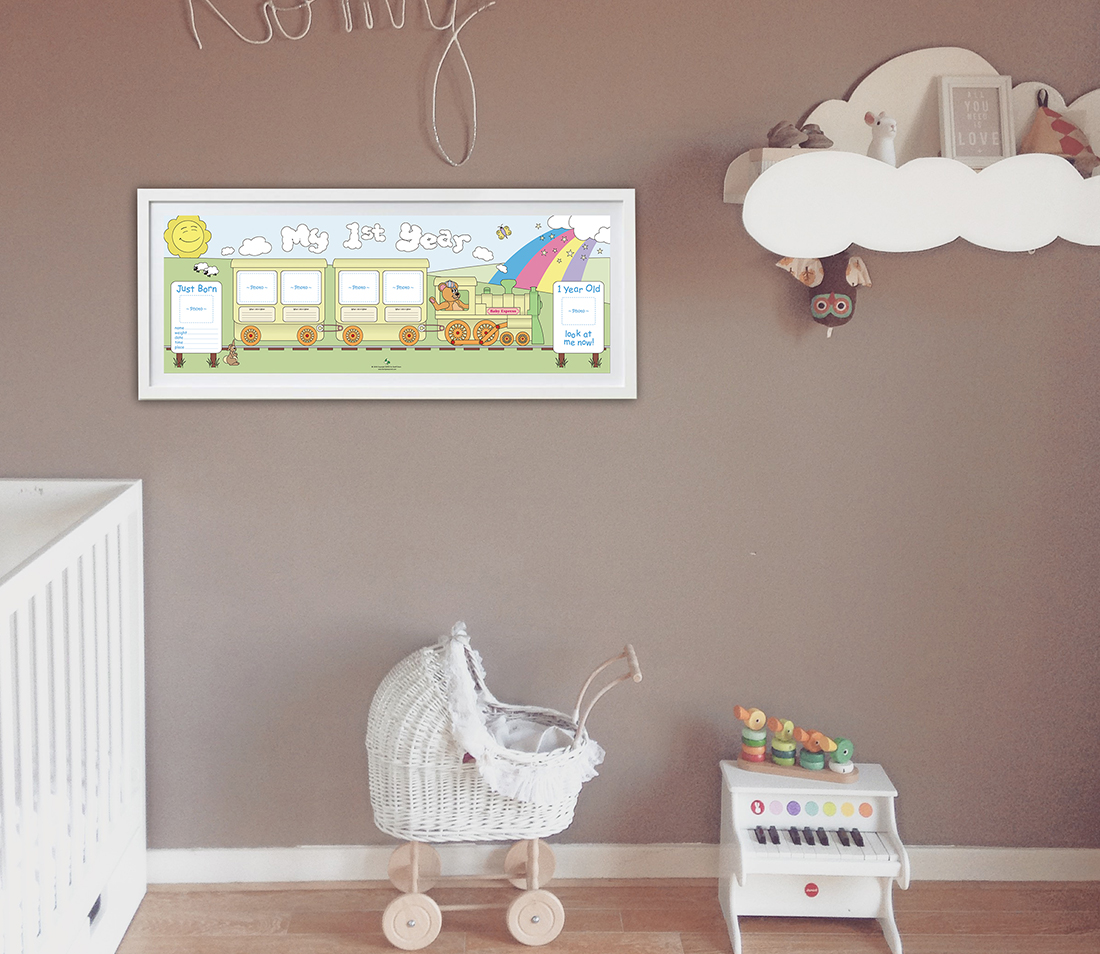My 1st year baby growth chart by dixon publishing baby growth chart displayed on nursery wall nvjuhfo Choice Image
