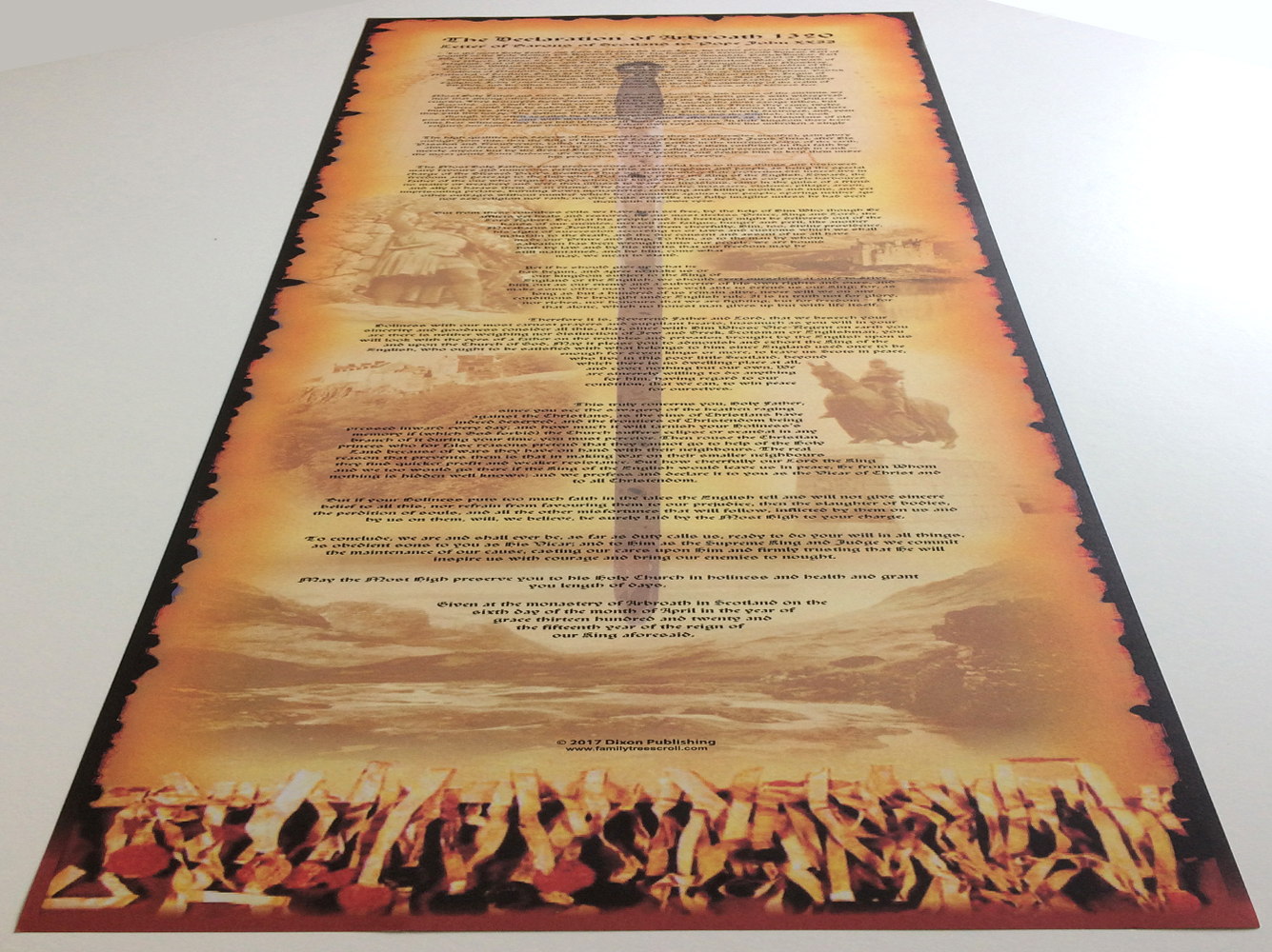 The Declaration of Arbroath Souvenir Scroll from Scotland - The perfect Scottish keepsake historical gift